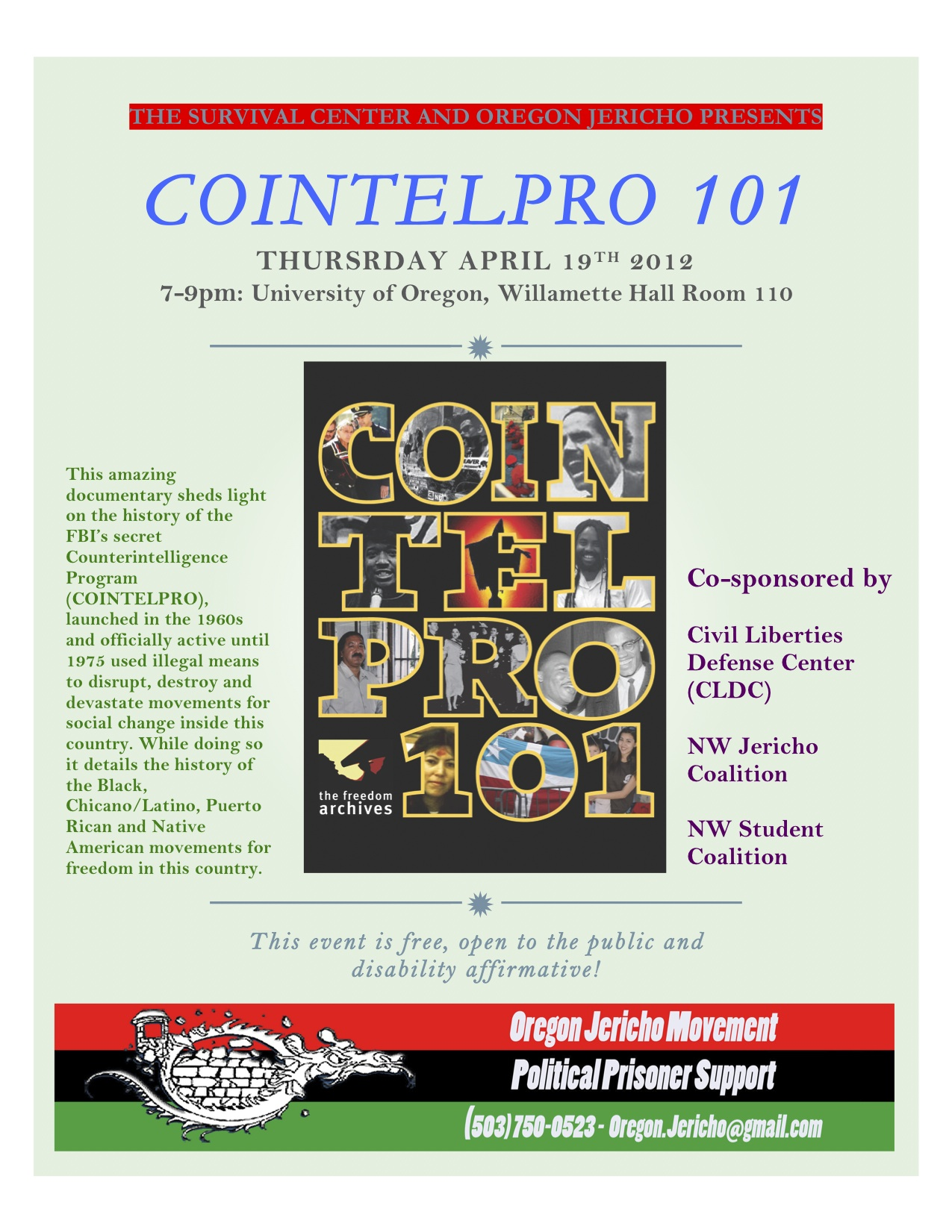 COINTELPRO 101: Film Screening and Discussion