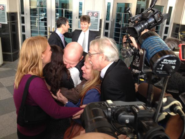 Eric and his family reunited outside jail