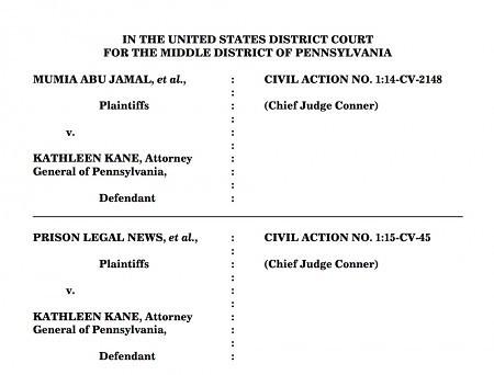 Mumia Abu Jamal v. Kathleen Kane