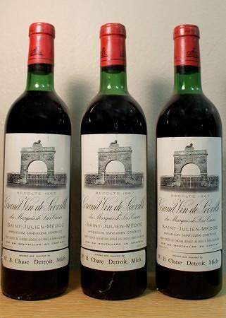 Bordeaux: Leoville de Las Cases (1967). Imported by W.B. Chase.
