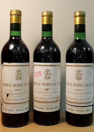 Bordeaux: Pichon Lalande (1967). Imported by Cruse/J. Garneau.