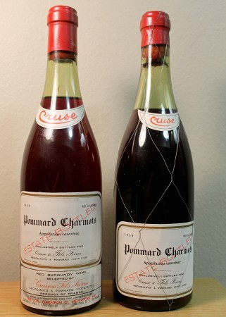 Burgundy: Pommard Charmots (Estate) (1959). Produced by Cruse and imported by Cruse/J. Garneau.
