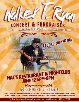 Walker T Ryan Concert & Fundraiser @ Mac's Restaurant & Nightclub | Eugene | Oregon | United States