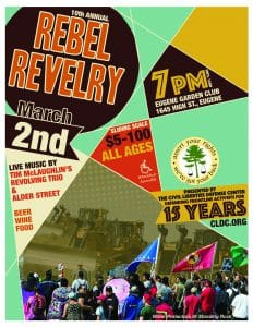 CLDC's Rebel Revelry 2018! Celebrating 15 years! @ Eugene Garden Club | Eugene | Oregon | United States