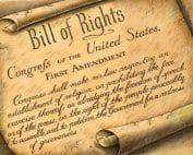 First Amendment Text Scroll