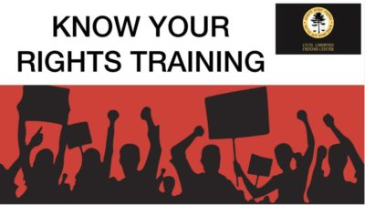 Know Your Rights Training @ University of Oregon, Mckenzie Hall, Room 129  | Eugene | Oregon | United States