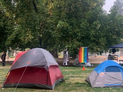 Tents in Hawthorne Park, Medford's new tent city